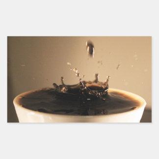 Coffee Splashes Rectangular Sticker