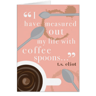 Coffee Spoons Greeting Card