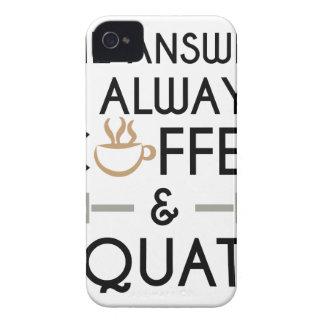 Coffee & Squats 2 iPhone 4 Case-Mate Case