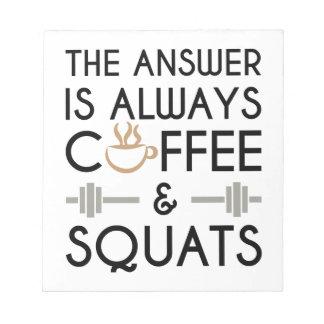Coffee & Squats 2 Notepad