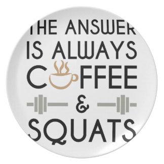 Coffee & Squats 2 Plate