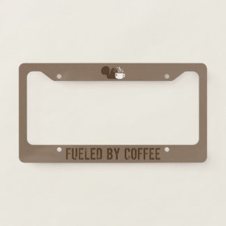 Coffee Squirrel Fueled by Coffee - Custom Licence Plate Frame