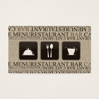 Coffee Stain Drink Punchcard Waitress Business Card