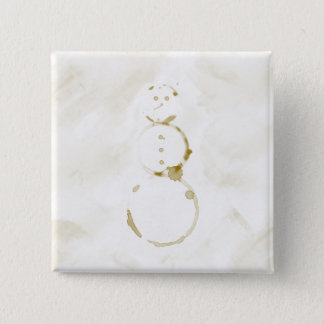 Coffee Stain Snowman 15 Cm Square Badge