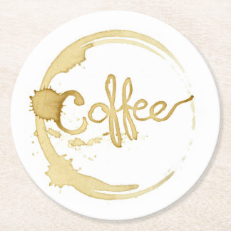 Coffee stained coasters