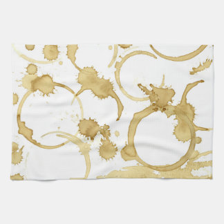 Coffee stained kitchen towel