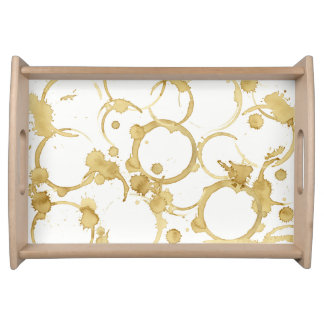 Coffee stained serving tray