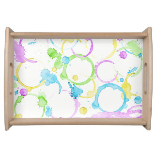Coffee stained serving tray colourful multicolour