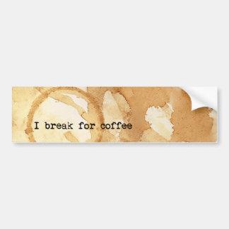 Coffee Stains Bumper Sticker