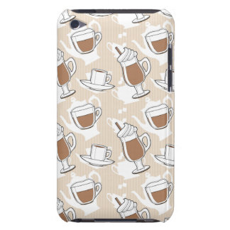Coffee, sweet pattern iPod touch cases