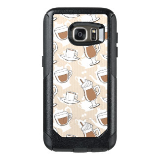 Coffee, sweet pattern OtterBox samsung galaxy s7 case