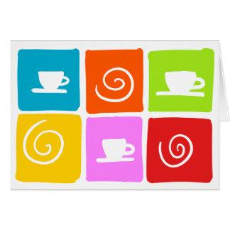 coffee swirl greetings card