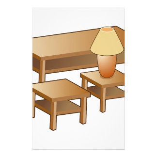 Coffee Table Lamp Furniture Icon Stationery