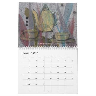 Coffee, Tea, Cups Calendar