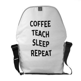 Coffee Teach Sleep Repeat Funny Teacher Professor Messenger Bag