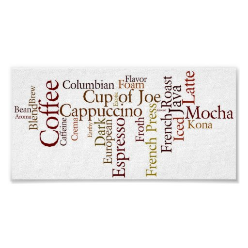 Coffee Terms Poster