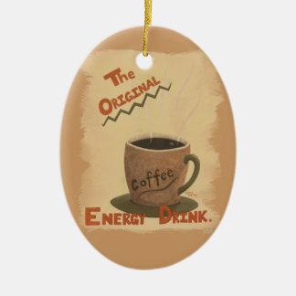 Coffee - The Original Energy Drink Ornamant Ceramic Oval Decoration