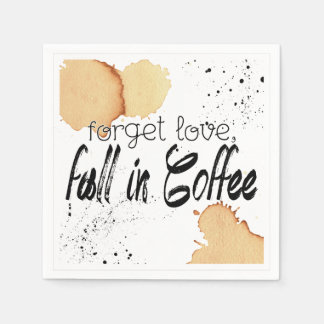 Coffee Themed Paper Napkin