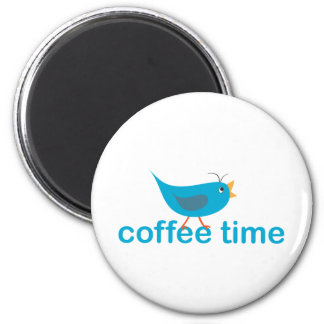 coffee-time 6 cm round magnet