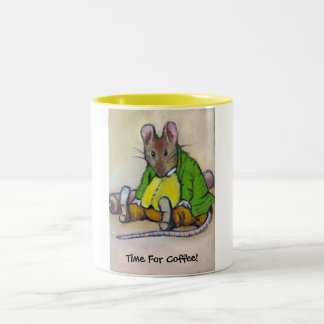 COFFEE TIME AFTER BEATRIX POTTER Two-Tone MUG