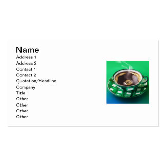 COFFEE TIME Double-Sided STANDARD BUSINESS CARDS (Pack OF 100)