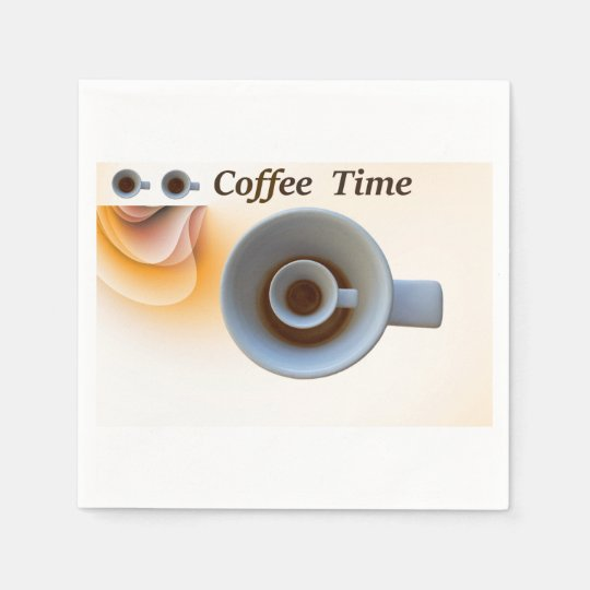 coffee time disposable serviette