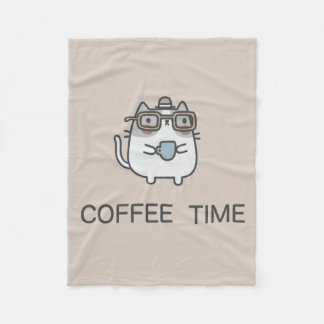 Coffee Time Fleece Blanket