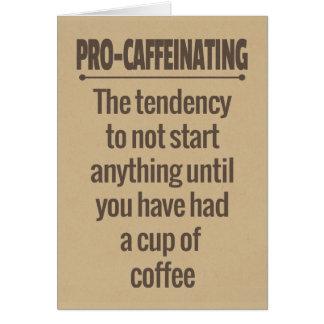 Coffee Time Greetings Greeting Card