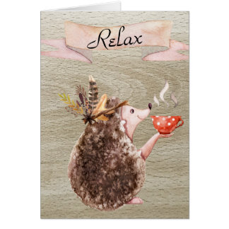 Coffee Time Porcupine Card
