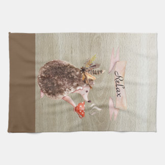 Coffee Time Porcupine Tea Towel