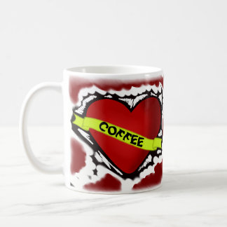 COFFEE TIME RETRO MUG  GREAT IN BLACK BACKGROUND