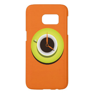 Coffee Time Stylish Vibrant Orange