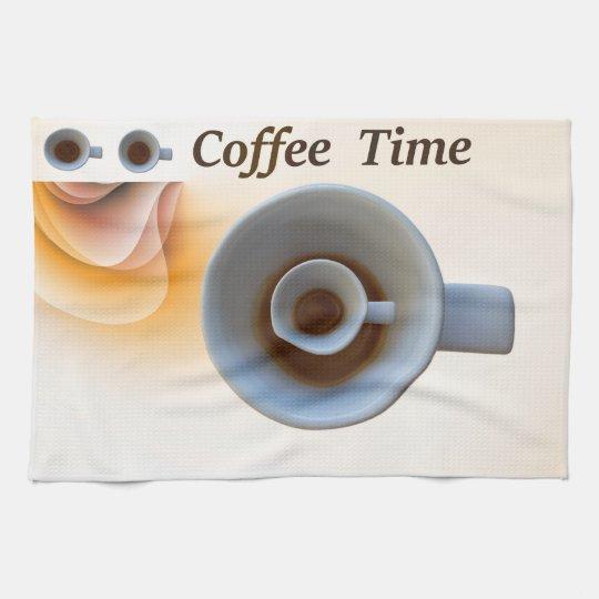 coffee time tea towel
