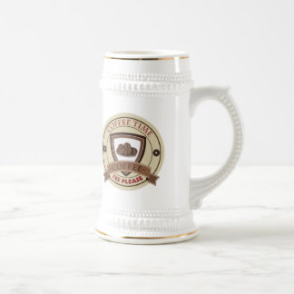 Coffee Time Yes Please Logo Beer Steins