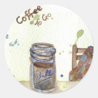 Coffee To Go - CricketDiane Folksy Coffee Art Stickers