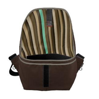 Coffee Tone Stripe Men's Commuter Bag Messenger Bags