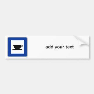 Coffee Traffic Sign Bumper Sticker