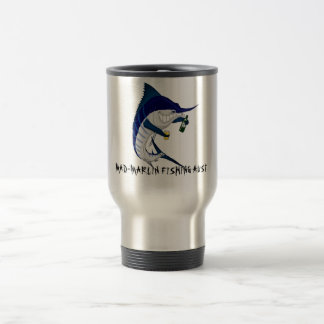 coffee travel mug, MAD-MARLIN FISHING AUST Stainless Steel Travel Mug