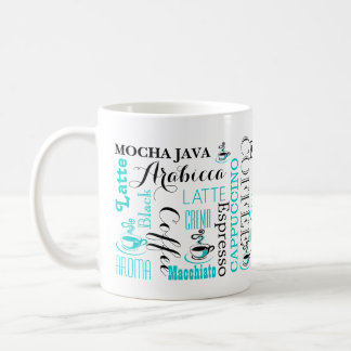 Coffee typography modern coffee mug