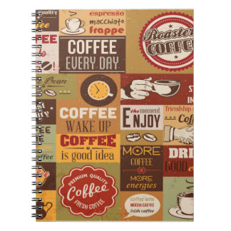 Coffee Typography Notebook