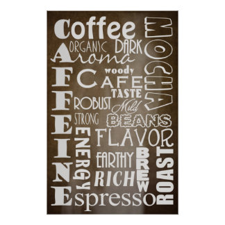 COFFEE TYPOGRAPHY POSTER