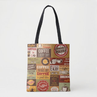 Coffee Typography Tote Bag