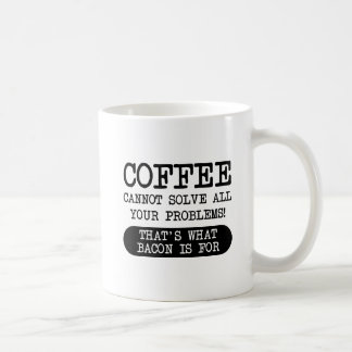 Coffee Versus Bacon Funny Mug