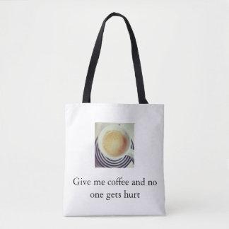 Coffee violence tote bag