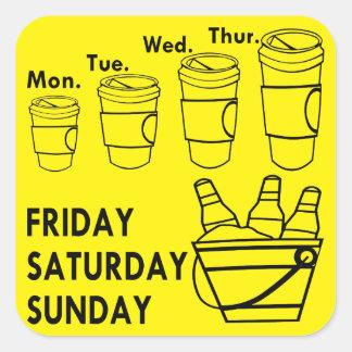 Coffee Week & Beer Weekend Square Sticker