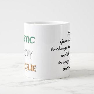 Coffee & Whiskey serenity with logo Large Coffee Mug