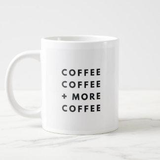"""""""Coffee"""" - White Jumbo Mug"""