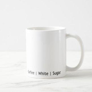 Coffee - White with Sugar Basic White Mug