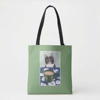 Coffee with Cat Tote Bag