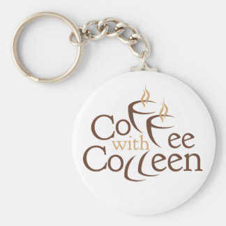 """Coffee with Colleen Keychain, 2.25"""" Key Ring"""